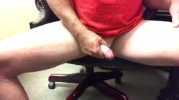 Jerking off in my office