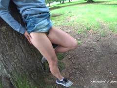 : No one saw our private fun in nature ! The good version .Amateur co...