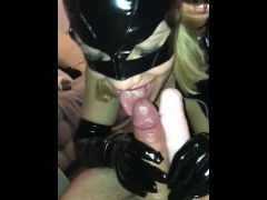 Part 1 - My slut ex girlfriend in catsuit is really exciting - Big Blowjob