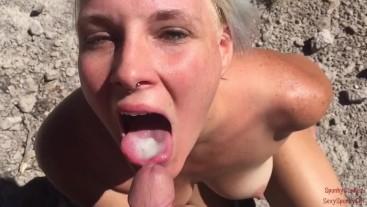 Hiking Blow Job: Feed Me Your Cum: Travel Vlog