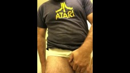 Horny Dad whips it out at work