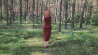 Playful Redhead Pissing in Forest and Showing her Big Boobs Big mistress