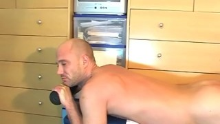 innocent handsome straight dude shows to us his huge cock in a gay porn Sensual fingering