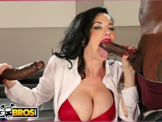 Avena lee getting her bumhole licked bangbros real estate agent veronica avluv gets double penetration, monstersofcock big cock big boobs squirting cougar moc
