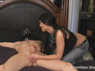 Dynamite naked man cries in pain as his nuts are squeezed for not obeying melanie, ballbusting femdo