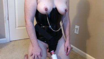 Milf Bondage Nipple Clamps and Wand Belt Orgasm S01E01