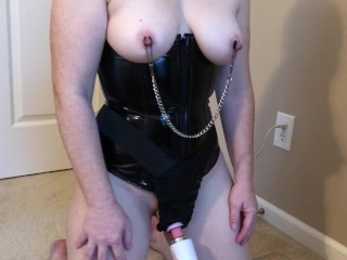 Deer spout made in czechelslovakia on bottom milf bondage nipple clamps and wand belt orgasm s01e01 bdsm adult toys