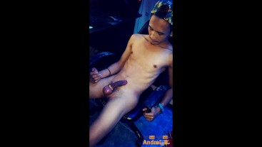 A Client Taking Video of a Filipino Boy Escort Jerking Off