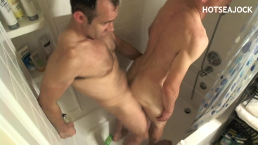 Two Bro's Play with Each Other's Holes in Shower / Raw Fuck