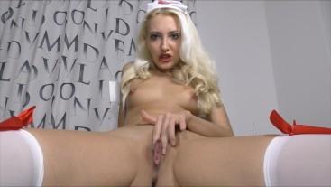 JOI from Sexy nurse Dildo handjob & Dirty talk