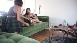 janice griffith and avery black ignore you wearing skirts with no panties