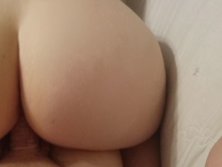Cheating girlfriend fuck randy young girl with big ass fucked with condom, kink butt reverse cowgirl