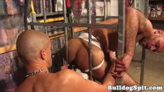 Caged UK skinhead assfucked by british top