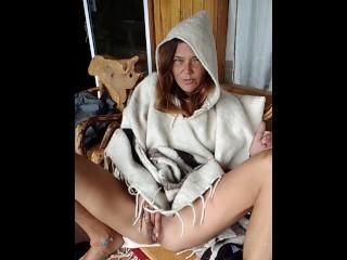 Traveling Hippie Mountain Masturbation