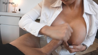 After work blowjob turns into hot pov fuck on the table Maid cleaning