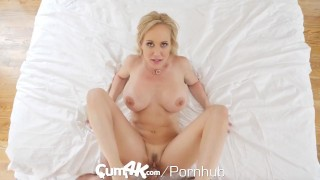 CUM4K Best Creampie fuck with Brandi Love Threesome romantic