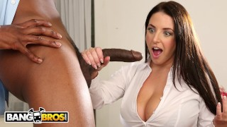 BANGBROS - Busty Angela White Takes Anal From Isiah Maxwell Small blowjob