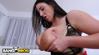 BANGBROS - Busty Angela White Takes Anal From Isiah Maxwell Kissing blowjob