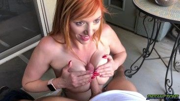Amatuer Public Blowjob from Redhead Lauren Phillips