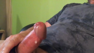 Edging - by the 5th time, I couldn't hold back. Lotta cum if UR into that.
