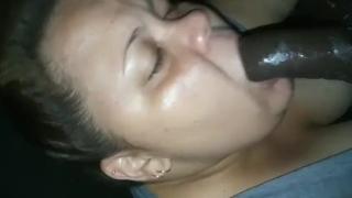 Sloppy deepthroat and shining his dick  deepthroat gagging sloppy blowjob bbw sucking bbc slobbering blowjob bbc sloppy head verified