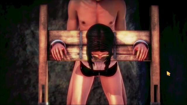 Hourse fucked Ilia raiven the sexy vgirl nun , rope stocks and wooden hourses