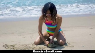 ExxxtraSmall - Cutie Fucked in Rainbow Swimsuit  big cock teen exxxtrasmall small tits skinny teamskeet brunette petite latina tight shaved latin teenager small frame cum shot jasmine grey