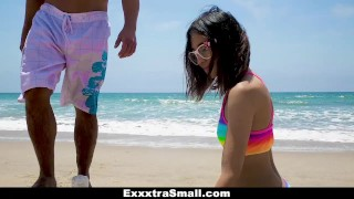 ExxxtraSmall - Cutie Fucked in Rainbow Swimsuit  jasmine grey big cock teen exxxtrasmall small tits skinny teamskeet brunette petite latina tight shaved latin teenager small frame cum shot