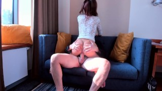 AMATEUR TEEN SLUT RIDE ON MY BIG COCK SO FAST porno