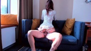 AMATEUR TEEN SLUT RIDE ON MY BIG COCK SO FAST Couple amateur