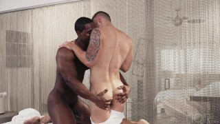 NoirMale FULL SCENE Sexy Fucking Massage 4 Hunk Black Daddy Fingering hardcore