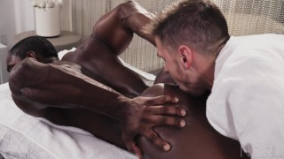 NoirMale FULL SCENE Sexy Fucking Massage 4 Hunk Black Daddy Bareback ass