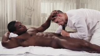 NoirMale FULL SCENE Sexy Fucking Massage 4 Hunk Black Daddy Huge cock