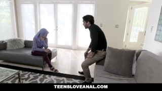 TeensLoveAnal - Teen in Hijab Gets Analed porno