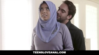TeensLoveAnal - Teen in Hijab Gets Analed 3some ffm