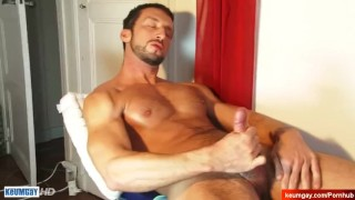 Nice atheltic neighbour serviced in a gay porn in spite of him.