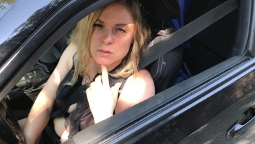 Hot guy broken down on the road picked up and fucked by MILF