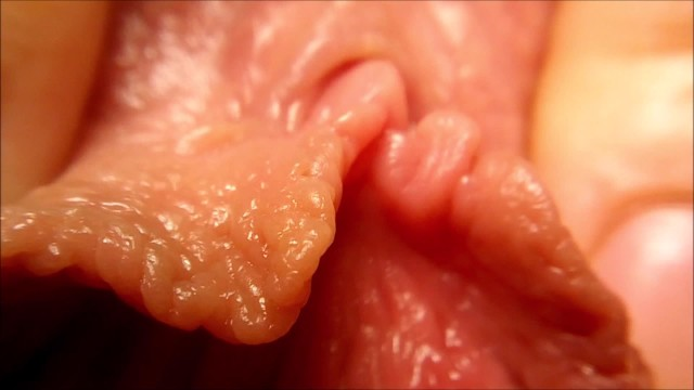 Labia and vulva Macro playing with a pussy and a clitoris relax video - part.1