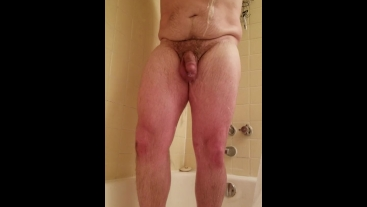Hairy Chubby Soapy Shower and Jerk HD