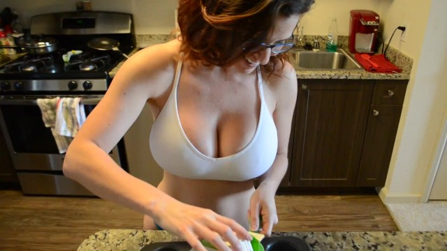Milf playing with boobs - Wow slutty milf sucks and gets fucked