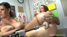 Horny Professor Angelina Castro Teaches Her Student How Drill Pussy!