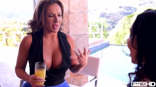 Busty American Milfs Dayton Raines & Richelle Ryan Fuck Lucky Pool Boy Stud Teenager rough