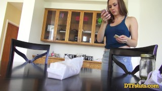 CHANEL PRESTON FUCKED IN DOGGYSTYLE WHILE MAKING A PHONE CALL Milf mom