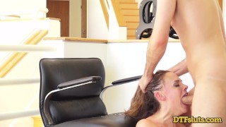 CHANEL PRESTON FUCKED IN DOGGYSTYLE WHILE MAKING A PHONE CALL College blonde