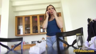 CHANEL PRESTON FUCKED IN DOGGYSTYLE WHILE MAKING A PHONE CALL Boobs family