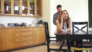 In a call fucked doggystyle making while chanel preston phone perky brunette