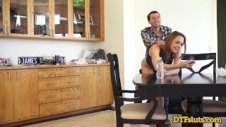 CHANEL PRESTON FUCKED IN DOGGYSTYLE WHILE MAKING A PHONE CALL Homemade of