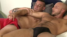 Hairy Muscle Hunk Daddy Analized By Big Dick Best Friend