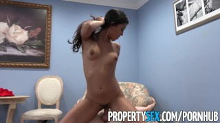 PropertySex - Hot Latina real estate agent thanks client with sex Daddy fuck