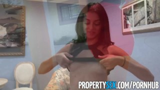 PropertySex - Hot Latina real estate agent thanks client with sex porno